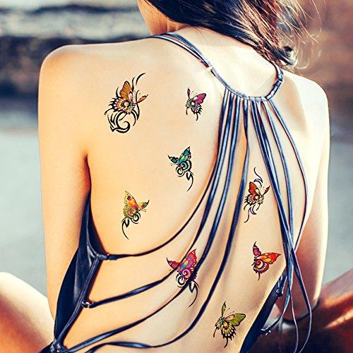 tafly-papillon-colore-transfert-temporaire-faux-tatouages-corps-autocollants-5-feuilles