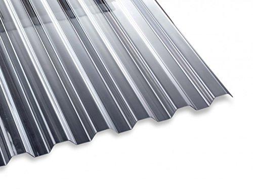 PVC Lichtwellplatte Profilplatte glasklar Trapez K70/18 B1092 x L2000 mm