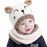 Cappello del bambino , feiXIANG Bambino bebè Bella guglia dei bambini a maglia della ragazza del ragazzo dei bambini Cappello morbido,maglia,Suit per bambini di 1-3 anni (Beige)