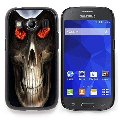 SKCASE Center / Protettiva Custodia - Evil Skull morte Reaper - Samsung Galaxy Ace Style LTE/ G357