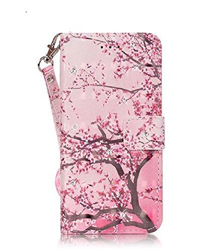 Qissy® Wallet case Custodia a portafoglio per Samsung Galaxy J310 / J3 Custodia flip cover in Design vortice floreale Feather Dreamcatcher (Samsung Galaxy J310 / J3, 3)