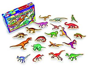 Box of 20 Magnetic Wooden Dinosaurs