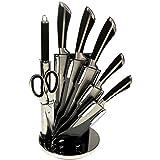 Set de 5 couteaux en inox avec ciseau, fusil et support pivotant Royalty Line KSS700