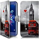 KARYLAX Etui Portefeuille Universel M [IMP-ZA05] pour Smartphone Polaroid Phantom 5