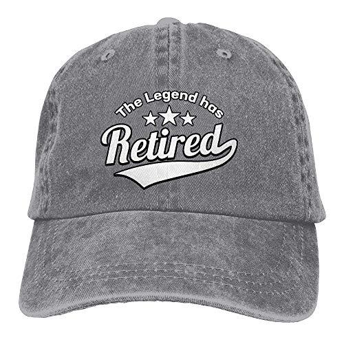 Sireua Unisex Washed Retro Denim Hats The Legend Has Retired Truck Driver Hat Stylish Adjustable Lightweight Breathable Baseball Cap Snapback Trucker Hat Basecap Snapback Outdoor Baseball Kappe