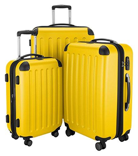 HAUPTSTADTKOFFER · Sets de bagages · (49;82;128 liters) · Serrure TSA · JAUNE