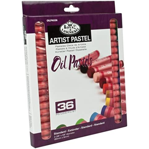 Royal & Langnickel - Confezione di 36 pastelli ad olio, piccoli, colori vari - Pastelli Cucire