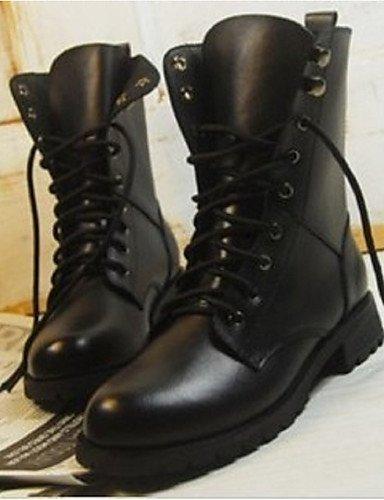ShangYi Mode damenschuhe stiefel die Herbst/Winter Mode Schuhe / Stiefel gegen PU-Outdoor / Sport / Casual flachem Absatz Schnürschuh, Schwarz Wandern Schwarz