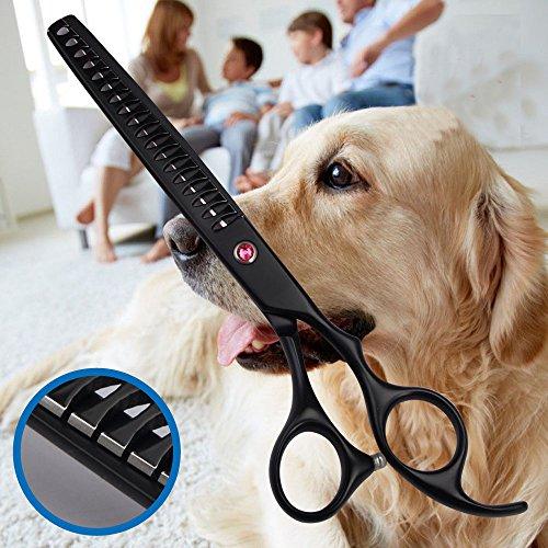 17,8cm japanischem Edelstahl 440C Fellpflege, für Hunde Effilierschere für Pet Effilierschere Rate 75% (Effilierscheren Serie)