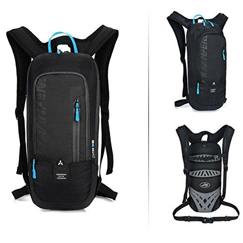 10L zaino ciclismo zaino impermeabile leggero traspirante borsa a tracolla per corsa, trekking, arrampicata campeggio Racing zaino sport outdoor trekking alpinismo equitazione, Grey Black
