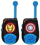Avengers Avengers-TW25AV Par de Walkie Talkies, Transmisión 2 Kms, a Partir de 3 Años, Color Azul (Lexibook TW25AV