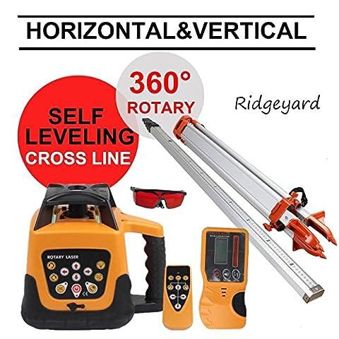 Ridgeyard 500m Gamme automatique rotatif à mesure de nivellement réglable rotatif Niveau laser machine Faisceau Vert/rouge
