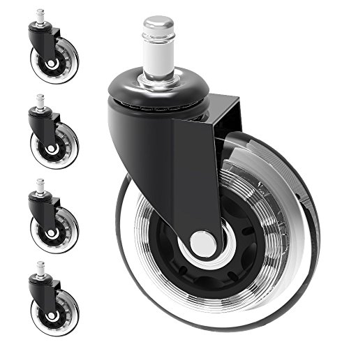 """Herrman 3"""" Chair Caster Wheel Replacement Protecting Hard Wood Floor 