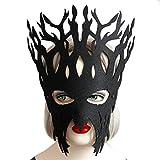 HCFKJ Elegant visage masque bal mascarade Carnaval fête (Noir)