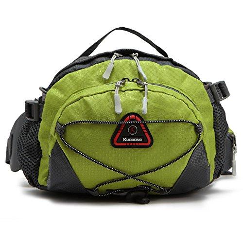 Outdoor peak Unisex Oxford wasserabweisend Gürteltasche Tagetasche Messenger Bag Wanderrucksack Multifunktions-Tasche Radfahrrad Trekkingrucksack Wandern Trekking Grün