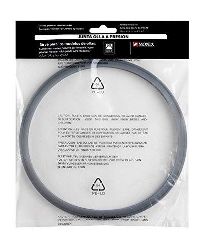 BRA A990932Silikon-Dichtung für Schnellkochtöpfe der Marken Monix antihaftbeschichtet 4 l, 6 l y 7 l grau