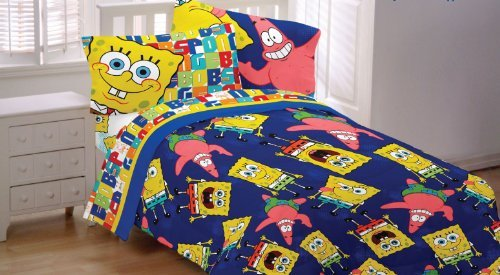spongebob-patrick-twin-full-comforter-dark-blue-blanket-by-viacom-international