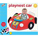 A big red racing car with a detachable electronic dashboard. This fabric covered inflatable toy provides a soft, self contained play area for imaginative play. Young children will be thrilled to drive their own exciting car, with different sounds to ...
