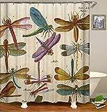 XMDNYE 3D-Druck Duschvorhang Farbe - Muster Digitaldruck Gelbe Wasserdicht Bad Vorhang Enthält 12 Haken,180×180Cm