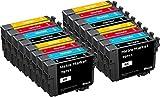 Metro Market 16 Stücke Patronen Ersatz für Epson T0711 T0712 T0713 T0714 (T0715) Tintenpatronen Kompatibel für Epson Stylus SX218 SX110 SX100 SX410 DX4400 DX8400 DX4000 DX7400 DX4450 SX400 SX210