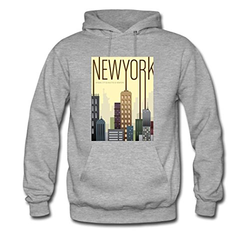 HGLee Printed DIY Custom The City of Dream Women's Hoodie Hooded Sweatshirt Gray--2