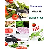 RedFam Best Quality Combo Of Clever Cutter 2 In 1 Food Chopper-Tool Slicer Dicer-Vegetable & Fruit Cutter-Kitchen Scissors-Knife-Chopping Cutting Board And Peeler Cutter (Combo-2)