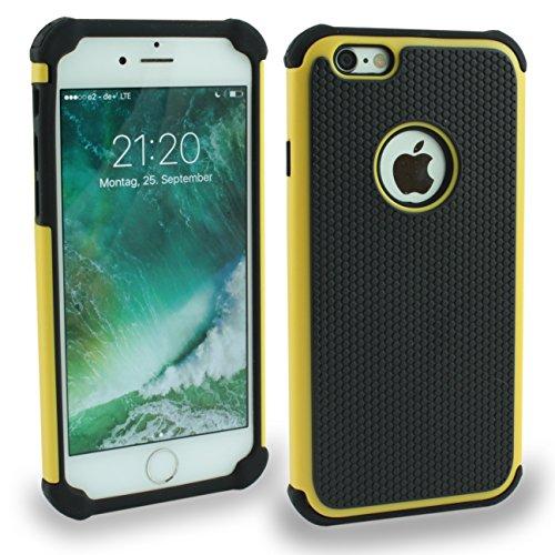 Iphone 6S Outdoor Case Gelb Cover inkl. Panzerglas 9H Hülle Schale Schutzhülle Bumper Yellow Gelb