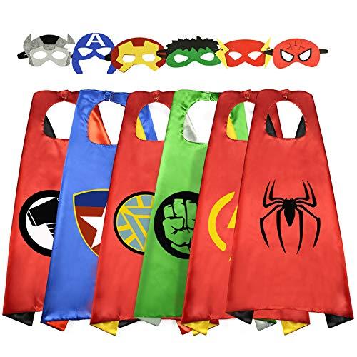 Mädchen Einfach Kostüm Superhelden - Geburtstagsgeschenke für 3-10 Jahre alte Jungen Mädchen, Tisy Spaß kühl Karikatur Superheld Umhänge aus Kleid Oben Für Kinder Mitbringsel Spielzeug für 3-10 jährige Jungen Mädchen Geschenke Alter 3-10