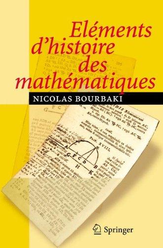 lments d'histoire des Mathmatiques