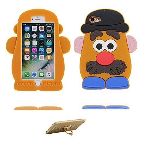 iPhone 6 Plus Custodia, TPU [ Animale ] Cover Shell Semplice Progettato per iPhone 6s Plus Copertura (5.5 pollici), iPhone 6S Plus Case - e ring supporto [ Disney Toy Potato ] # 3