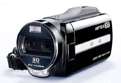 "Aiptek iH3 Full HD 3D Camcorder (8,1cm (3,2\"") 3D Display, SD / SDHC, 5 Megapixel) schwarz"