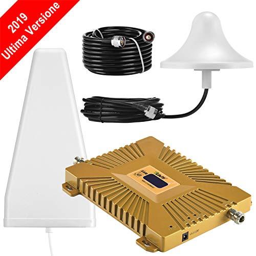 Yuanj Handy Signalverstärker, 900/2100 MHz Band 1/8 für Telefon T-Mobile D1 Vodafone D2, Handynetz Signal Verstärker mit Außenantenne & Omni-Innenantenne - Handy Signalempfang Verstärkung (Handy-verstärker 3g)