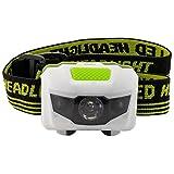 LED Linterna Frontal para Acampada Senderismo Paseos Mejor Linterna de Agua y Resistente a Choques con Estroboscopio Rojo