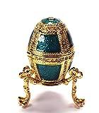 Schätze der Zarenzeit Deko Ei Faberge Art als Schmuckdose oder Pillendose