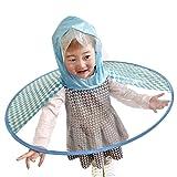 Sannysis Chubasquero para Niños Rain Jacket Raincoat Niñas Niños Impermeable con Capucha Portátil Poncho Chaqueta Impermeable PVC Transparente Raincoat (M, Azul1)