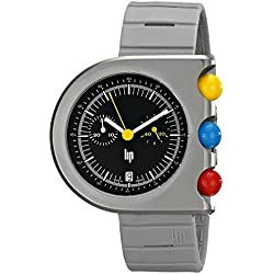 Lip Createur Roger Tallon Men's Chronograph Watch 1892532 With Grey Rubber Strap