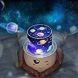 Sterne Projektor, 360 Grad Universum Nachtlicht Projektionslampe, Zimmer Dekor Valentinstag Lampen Wandleuchten Birthdaty Hochzeit Dekorationen Lichter für Wohnzimmer Schlafzimmer (weiß)