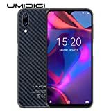 UMIDIGI One Max Flaggschiff Qi Smartphone ohne Vertrag Android 8.1 Oreo 4GB + 128GB 6.3 Zoll 19:9 Waterdrop Full Screen Handy, Dual SIM, Globale Version, Induktion Laden, NFC, 16MP Kamera - Schwarz