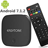 EASYTONE Android 6.0 TV Box 2GB RAM 16GB ROM Quad Core,T95D Media Player Supporting 4K Full HD /H.265 /3D Outputs Game Player For Home Entertainment Google Smart TV Box With WiFi LAN BT