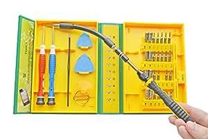 Deyard Kit d'outils de précision pour la réparation des iPhone, ordinateurs portables, smartphones, MacBook et XBOX comprenant 1 tournevis 38 en 1