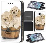CoverFix Premium Hülle für Samsung Galaxy A5 (Modell 2016) A510 Flip Cover Schutzhülle Kunstleder Flip Case Motiv (1324 Hund Welpe Süß Welpen Hundebaby)