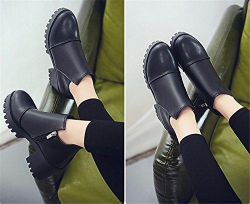 FLYRCX In stile europeo in autunno e in inverno la personalità di moda Martin stivali e caldo e stivali antislittamento B