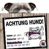 Hunde-Warnschild Schutz vor Heidenheim-Fans | FCA-, FC Ingolstadt- & Alle Fußball-Fans, Dieser Revier-Markierer schützt Haus & Hof vor Heidenheim-Fans | Spaßgarantie | Achtung Vorsicht Hund Bissig |