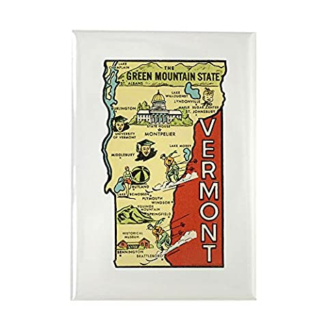 CafePress - Vermont VT Fridge Magnet - Rectangle Magnet, 2