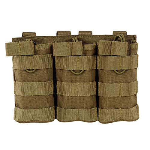 Gocher Taktische modulare Triple Open Top Molle Tasche Militär Paintball Gear Weste Mag Pouch- (MC)