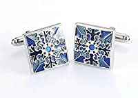 Scorpios Jewellery Clothing Accessories Blue French Style Pattern Design Unisex Copper Shirt Cufflinks Shirt Studs