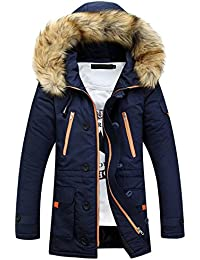 Uomo Amazon Cappotti Giacche Abbigliamento Blu E it Peluche 8xr7AY8