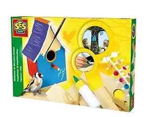 SES Creative 14942 - Casita de pájaro en Madera para Montar y Pintar Importado de Alemania