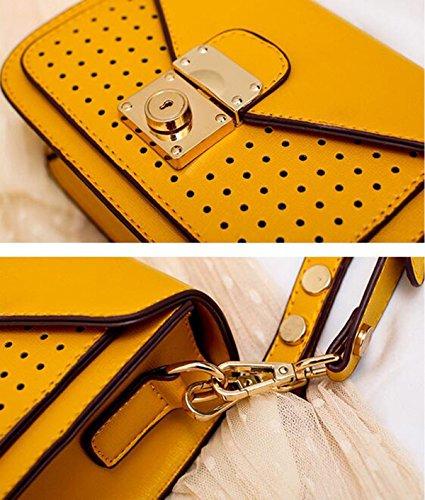 QPALZM Geldbeutel Frauen Handtasche Schulter Kreuz Körper Tasche Mit Quaste Yellow