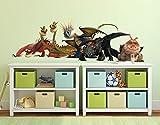 Klebefieber Wandtattoo Dragons Drachengruppe B x H: 80cm x 28cm